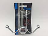 Вешалка для полотенец хром Feniks (2 крючка), фото 4