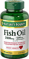 Nature's Bounty Omega 3 Fish oil 2400 mg 90 softgel, фото 1