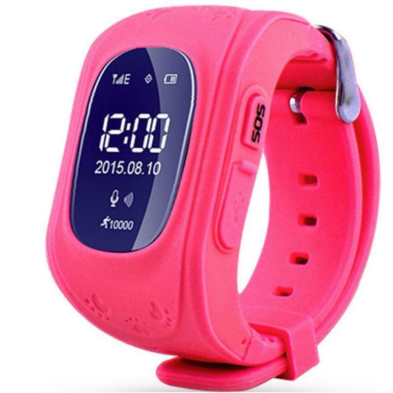 Детские умные смарт-часы Q50 с GPS трекером Smart Watch Только Красный  плюс usb led фонарик в подарок