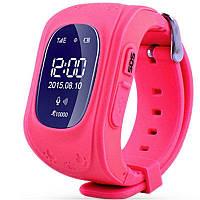 Детские умные смарт-часы Q50 с GPS трекером Smart Watch Только Красный  плюс usb led фонарик в подарок, фото 1