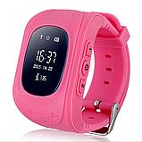 Детские умные смарт-часы Q50 с GPS трекером Smart Watch Только Красный  плюс usb led фонарик в подарок, фото 6