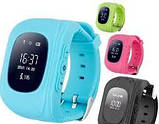 Детские умные смарт-часы Q50 с GPS трекером Smart Watch Только Красный  плюс usb led фонарик в подарок, фото 2