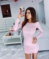 Платье женское стильное Цвета: розовое бутылка 42-44 44-46