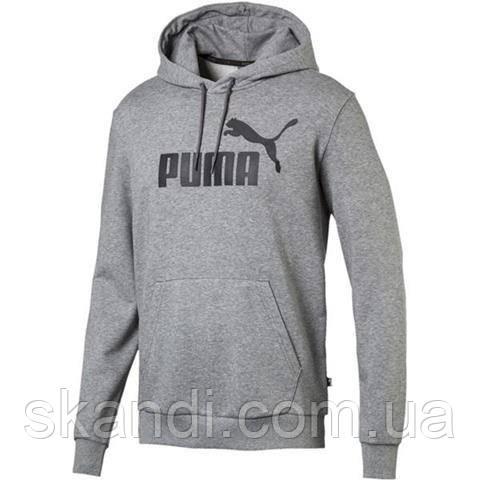 Толстовка мужская Puma Essentials Hoody TR серая 851745 03