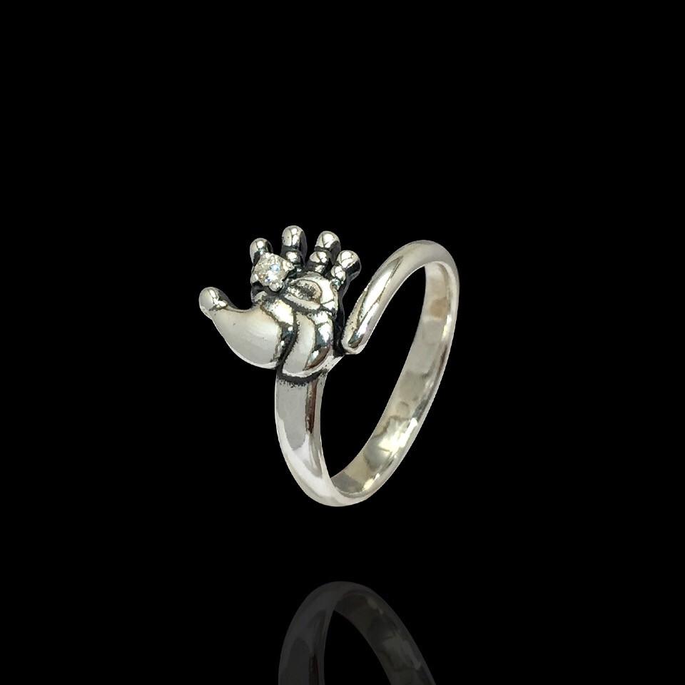 Серебряное кольцо Ладошка малыша