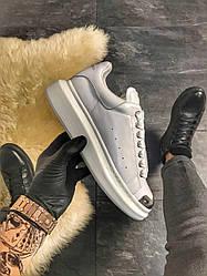 Женские кроссовки White Silver (белые)
