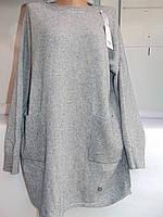 """Платье-туника женское кашемир БАТАЛ (56-60) """"New York"""" GB-1213"""