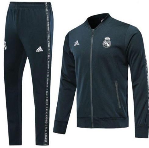 Костюм тренировочный на молнии Реал Мадрид сезон 19-20