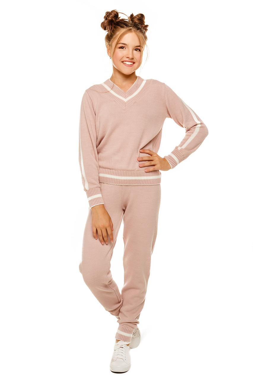 Вязаный костюм для девочки Розовый