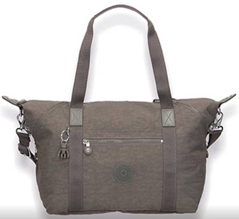 Женская двуручная сумка Kipling Basic на 21 л, серая