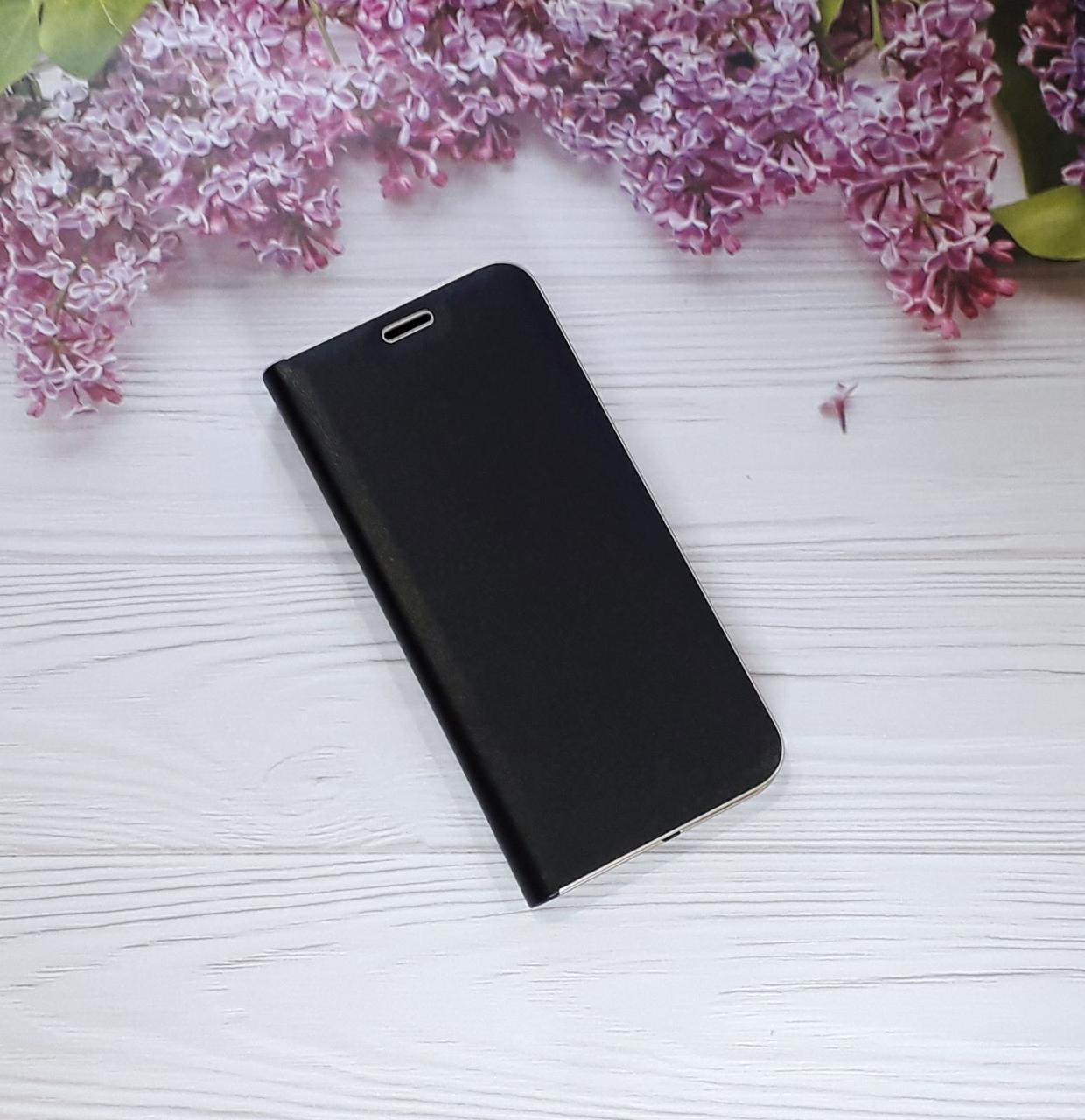 Чехол (книжка) с визитницей для Samsung A8 Plus (18), Black