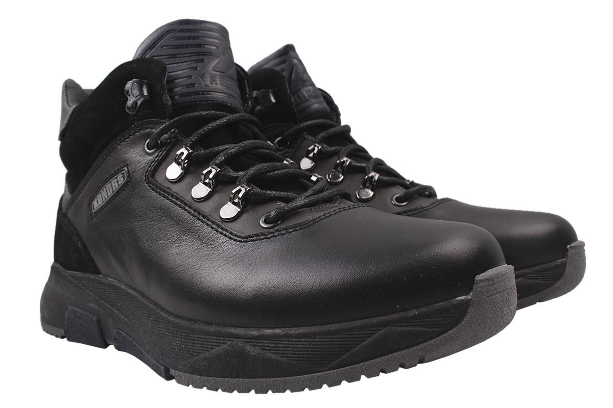Ботинки мужские зимние Konors натуральная кожа, цвет черный, размер 40-45