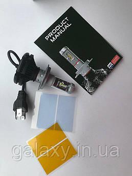 Лампы LED Х3 цоколь H4 комплект 2 штуки 6000lm 8000/ 6500/ 3000К