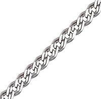 Серебряная цепочка НОННА, МОНА ЛИЗА 5 мм, 65 см