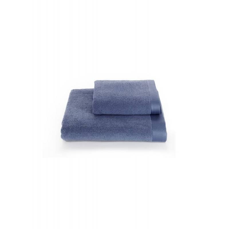 Soft cotton набір рушників DELUXE 3 пр 32х50, 50х100, 75х150 блакитний