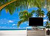 Глянцевые Фотообои  пляж в пальмах разные текстуры , индивидуальный размер, фото 2