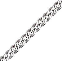 Серебряная цепочка НОННА, МОНА ЛИЗА 5 мм, 50 см, фото 1