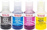 Комплект чернил WWM 101 для Epson L4150/4160 4х140г B/C/M/Y (E101SET4)