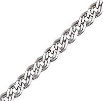 Серебряная цепочка НОННА, МОНА ЛИЗА 5 мм, 45 см