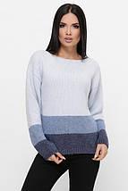 Женский трехцветный свитер из вязки (Ellyn fup), фото 2