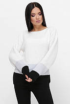 Женский трехцветный свитер из вязки (Ellyn fup), фото 3