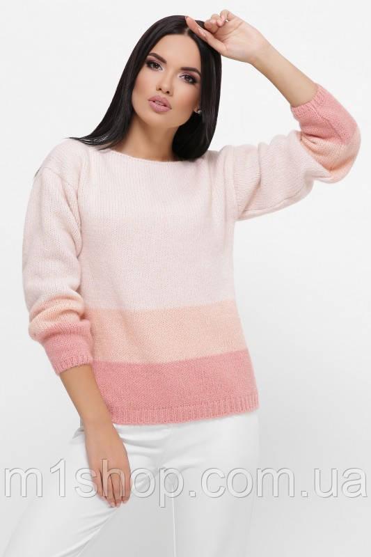 Женский трехцветный свитер из вязки (Ellyn fup)