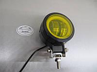Дополнительная LED фара GV-20W СТГ круглые- не слепят - желтая 1 шт. https://gv-auto.com.ua, фото 1