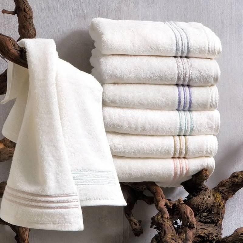 Soft cotton набор полотенец DELUXE 3 пр 32х50, 50х100, 75х150 голубой
