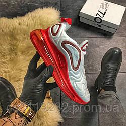 Женские кроссовки Nike  Air Max 720 White Red (бело-красные)