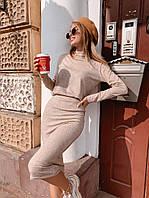 Костюм женский ангоровый с юбкой  руд270, фото 1