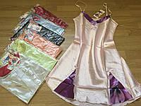 Атласная ночная рубашка 46-52, фото 1