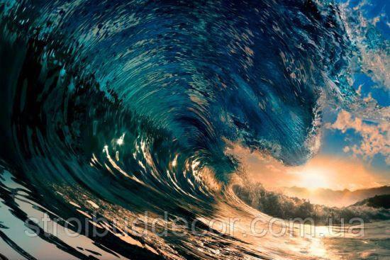Фотообои на гребне волны разные текстуры , индивидуальный размер