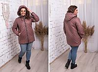 Куртка женская удлиненная на змейке  48,50,52,54,56