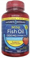 Nature's Reward Omega 3 Mini Fish Oil 1300 mg 150 softgel