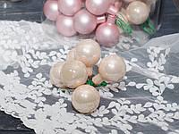 Новорічні стекл. кульки 3 см на дроті 6 шт, фото 1