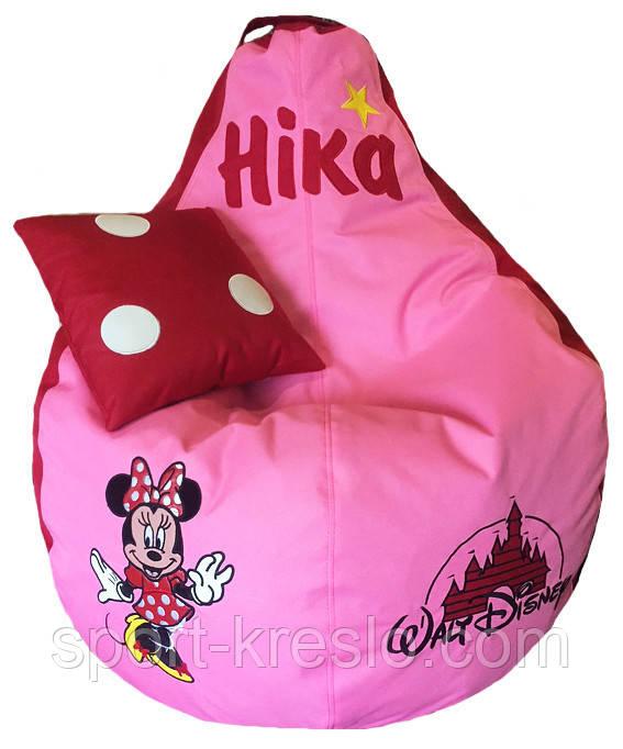 Кресло мешок пуф бескаркасная груша для детей Минни Маус