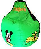 Кресло мешок пуф бескаркасная груша для детей Минни Маус, фото 10