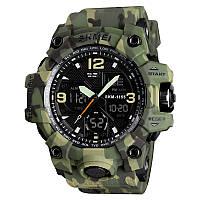 Skmei 1155 B hamlet  зеленый камуфляж мужские спортивные часы
