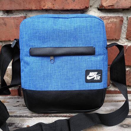Мужская сумка барсетка nike спортивная через плечо мессенджер, фото 2
