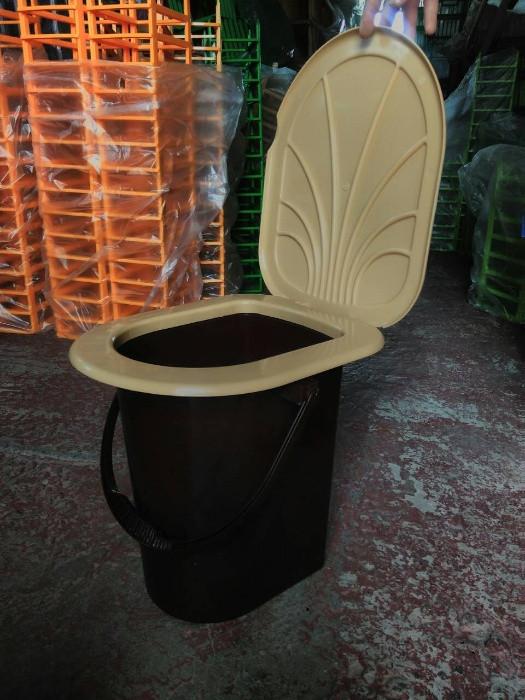 Ведро туалет с крышкой 17л, биотуалет, ведро туалетное, пластиковое