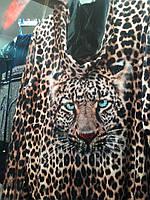 Велюровый женский леопардовый турецкий костюм EZE