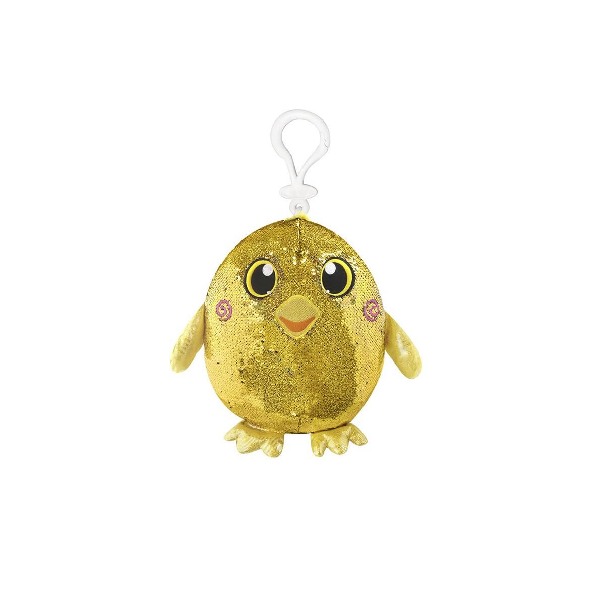 М'яка іграшка з паєтками SHIMMEEZ - Радісна качечка (9 см, на кліпсі)