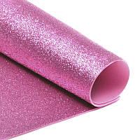 Фоамиран с глиттером 1уп. 10шт. Розовый