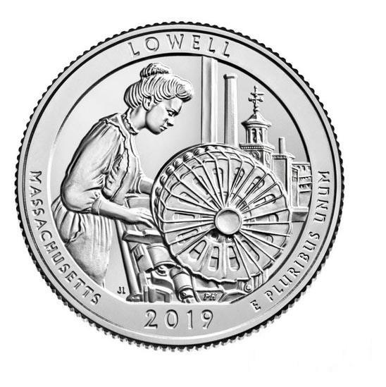 25 центов 46 - й парк США Национальный исторический парк Лоуэлл