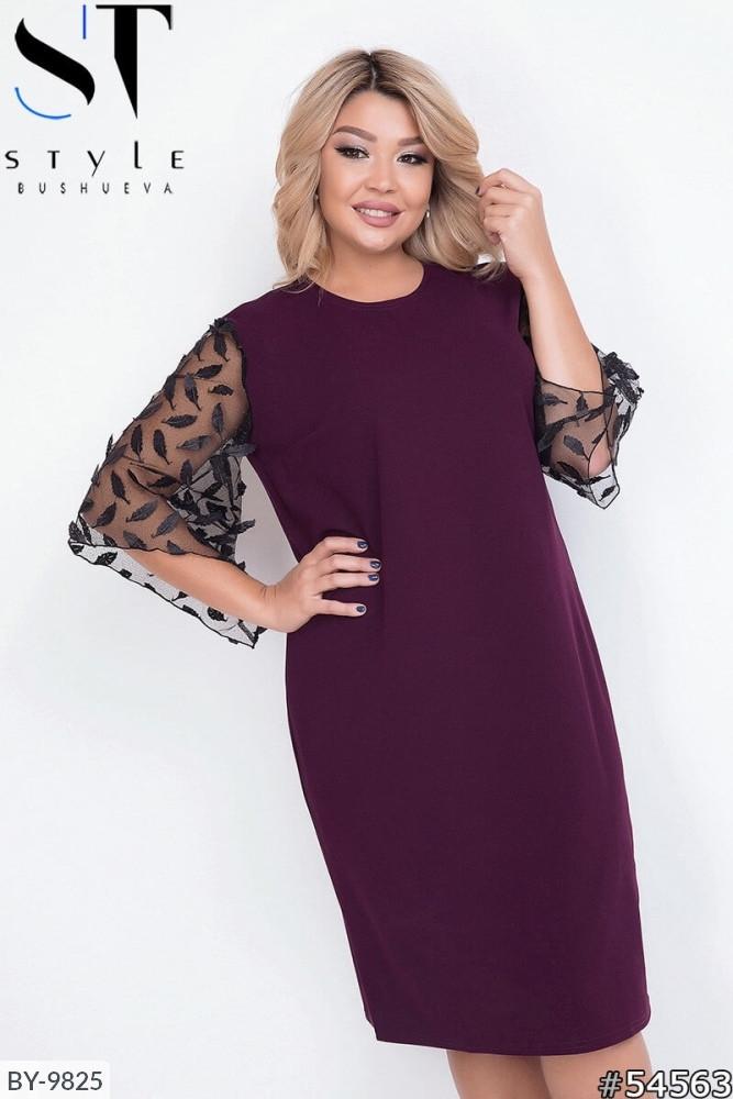Стильное платье     (размеры 52-58) 0215-96
