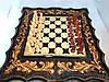 Нарды, шахматы, шашки ручной работы ВОЛК и МЕДВЕДЬ (70х60 см.)