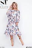 Стильное платье     (размеры 48-54) 0215-98, фото 4