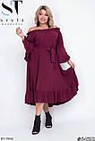 Стильное платье     (размеры 48-54) 0215-98, фото 5