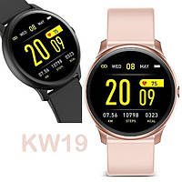 Умные часы Smart Watch KingWear KW19 Green Bluetooth 4.0 140 мАч Счетчик калорий Шагомер Пульсометр, фото 4