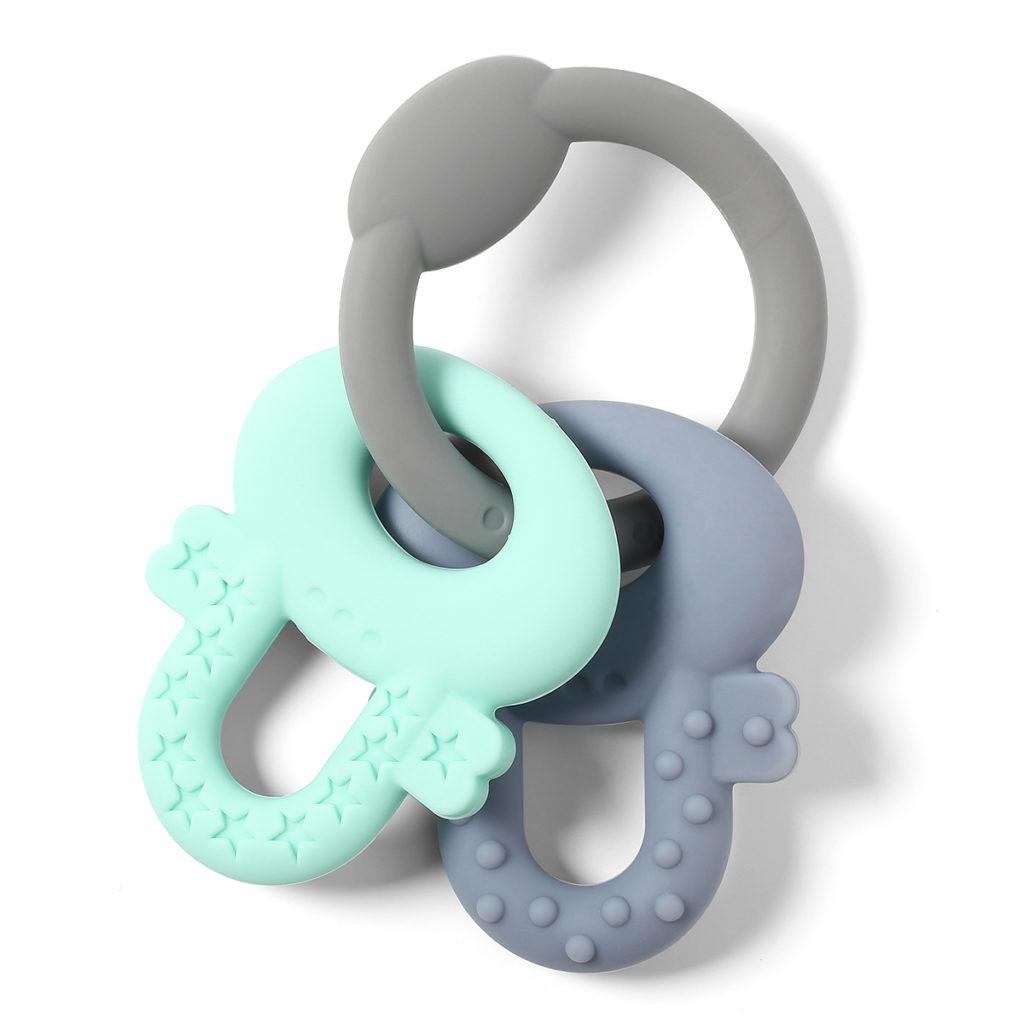 Прорізувач для зубів Ключики, м'ятний з сірим BabyOno (487)